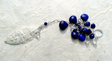 Custom Lapis & Sterling pendant