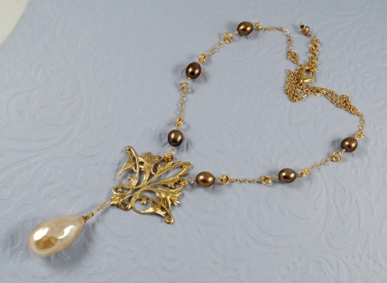 Necklace featuring genuine Haskell pearl. Inspired by Brenda Sue Landsdowne.